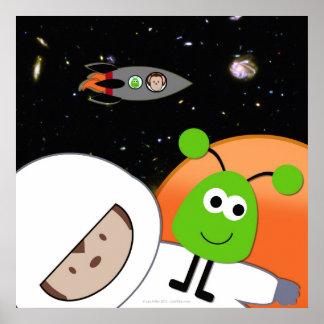 宇宙人の浮遊の猿 ポスター