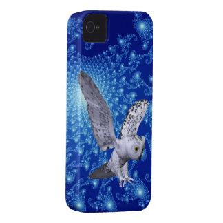 宇宙写真およびフクロウ3Dの一見 Case-Mate iPhone 4 ケース