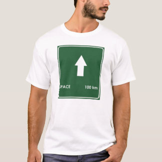 宇宙印100キロメートルのハイウェーの Tシャツ
