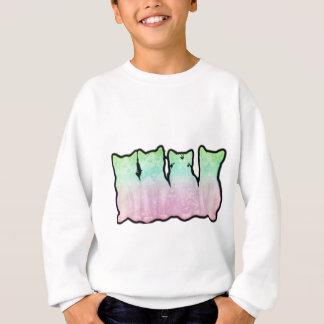 宇宙子ネコの虹 スウェットシャツ