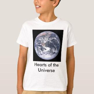 宇宙子供のハート Tシャツ