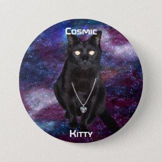 宇宙子猫ボタン 7.6CM 丸型バッジ
