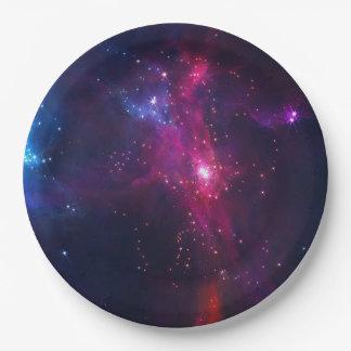 宇宙宇宙の星および星雲 ペーパープレート