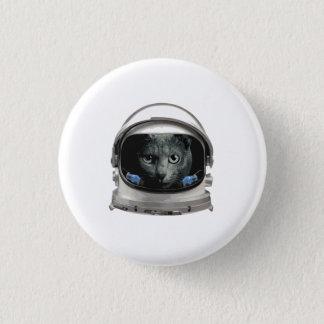 宇宙帽の宇宙飛行士猫 3.2CM 丸型バッジ