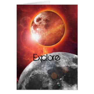 宇宙惑星は挨拶状を探検します カード