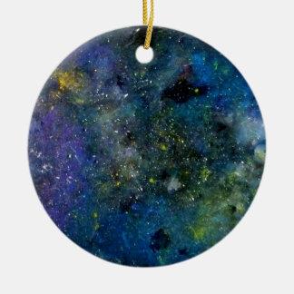 宇宙星明かりの空-オリオンか銀河の宇宙 セラミックオーナメント