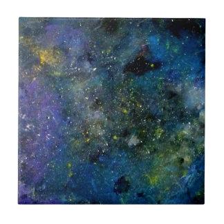 宇宙星明かりの空-オリオンか銀河の宇宙 タイル