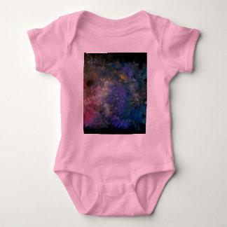 宇宙星明かりの空-オリオンか銀河の宇宙 ベビーボディスーツ
