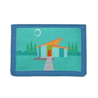 宇宙時代の漫画の家の三重ナイロン財布