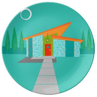宇宙時代の漫画の家の磁器皿 磁器プレート