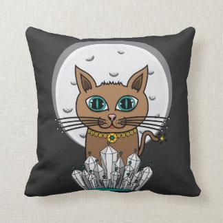宇宙月猫-ターコイズ-正方形 クッション