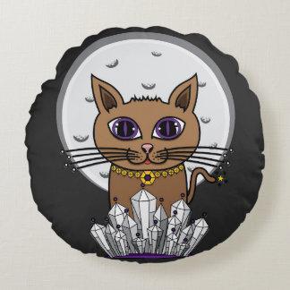 宇宙月猫-紫色 ラウンドクッション