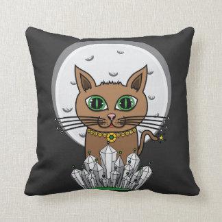 宇宙月猫-緑-正方形 クッション