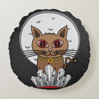 宇宙月猫-赤 ラウンドクッション