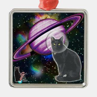 宇宙猫のCosmoのオーナメント メタルオーナメント