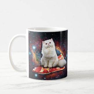 宇宙猫ピザ コーヒーマグカップ