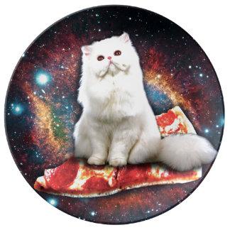 宇宙猫ピザ 磁器プレート