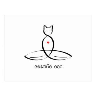 宇宙猫-ファンシーなスタイルのテキスト はがき