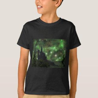 宇宙空の緑 Tシャツ