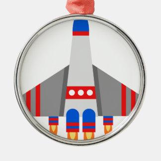 宇宙船の漫画 メタルオーナメント