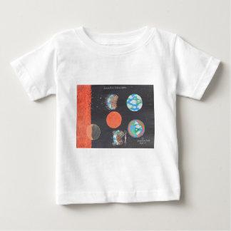 宇宙船の空のアース・アート ベビーTシャツ