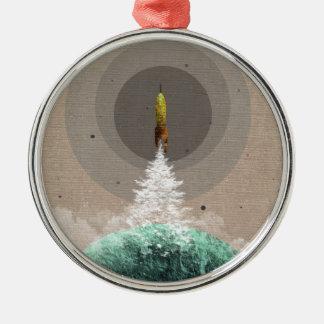 宇宙船の進水 メタルオーナメント