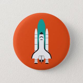 宇宙船 5.7CM 丸型バッジ