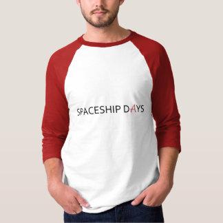 宇宙船DAYS/Reputationのラベルメンズ3/4本の袖 Tシャツ