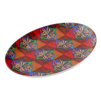 宇宙花の大皿 磁器大皿