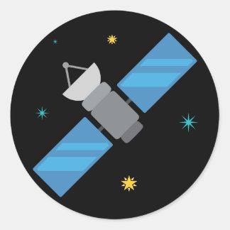 宇宙衛星Emoji ラウンドシール