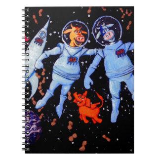 宇宙象への宇宙牛供給ピーナツ ノートブック