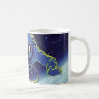 宇宙遊泳のヴィンテージの空想科学小説の宇宙飛行士 コーヒーマグカップ