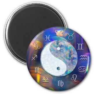 宇宙銀河系の(占星術の)十二宮図の占星術の陰陽 マグネット