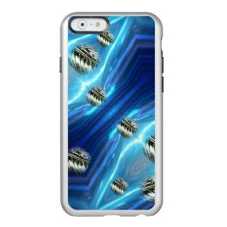 宇宙雨浮遊金属はiPhoneの場合を落とします Incipio Feather Shine iPhone 6ケース