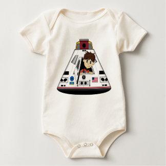 宇宙飛行士およびカプセルのクリーパー ベビーボディスーツ