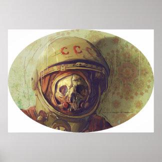 宇宙飛行士のキャンバスのプリント ポスター