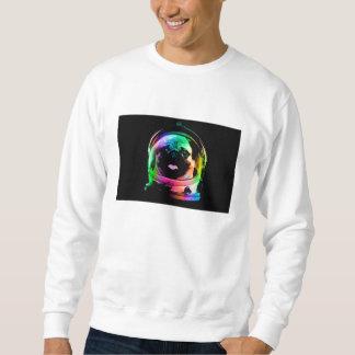 宇宙飛行士のパグ-銀河系のパグ-パグの宇宙-パグの芸術 スウェットシャツ