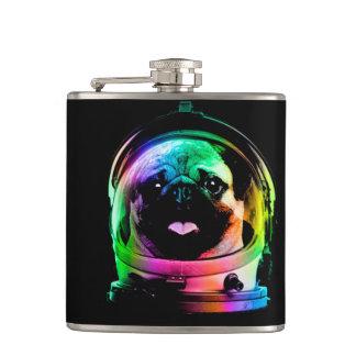 宇宙飛行士のパグ-銀河系のパグ-パグの宇宙-パグの芸術 フラスク