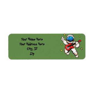 宇宙飛行士の勝利ジェスチャー ラベル