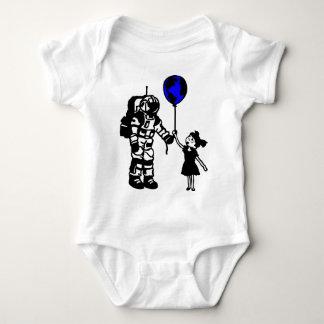 宇宙飛行士の女の子および世界 ベビーボディスーツ
