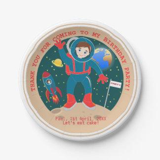 宇宙飛行士の子供の誕生会 ペーパープレート