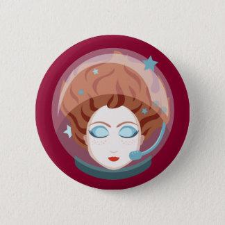 宇宙飛行士の宇宙の女の子ボタン 5.7CM 丸型バッジ