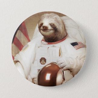 宇宙飛行士の怠惰の円形ボタン 7.6CM 丸型バッジ