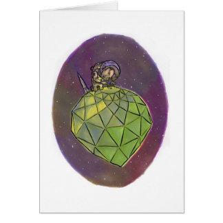 宇宙飛行士のGemologist グリーティングカード