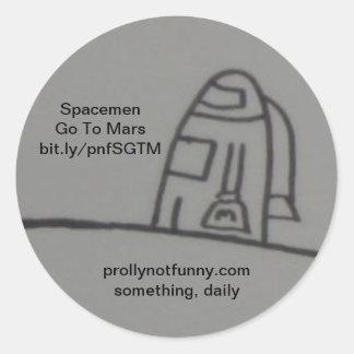 宇宙飛行士は火星に行きます ラウンドシール