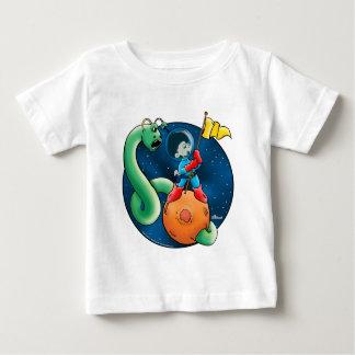 宇宙飛行士及びみみず ベビーTシャツ