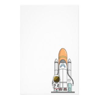 宇宙飛行士及び宇宙船 便箋