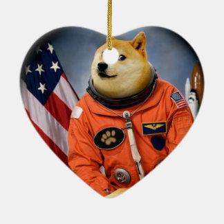 宇宙飛行士犬-総督- shibe -総督のミーム セラミックオーナメント