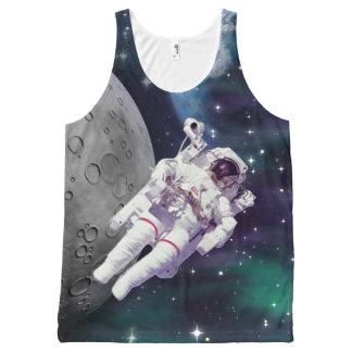 宇宙飛行士-宇宙 オールオーバープリントタンクトップ
