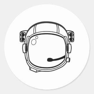 宇宙飛行士|宇宙|ヘルメット 丸形シールステッカー